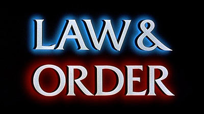 law and order title screen
