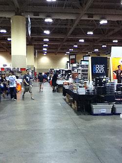 empty fan expo floor
