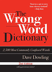 wrong word dictionary