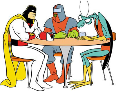 space ghost at table