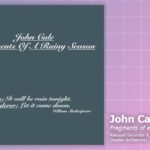 Music Review: John Cale, Fragments Of A Rainy Season
